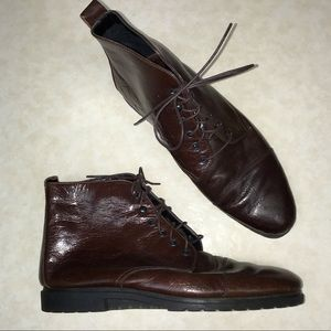 Aerosoles ankle lace up brown boots